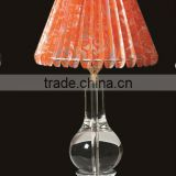 New Luxury orange Antique Classic Brass Crystal Table Lamps For Bedroom Design Copper Table Lamps With Lampshade68cm(R-2219)
