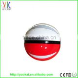 New products 2016 mini pokemon ball powerbank 8000mah round mobile phone charger