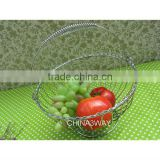 chrome metal wire fruit basket banana holder