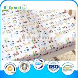 cartoon printing and soft baby crib sheet