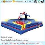 American gladiator joust arena with inflatable gladiator joust sticks