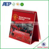 folding table standing high quality Coated paper innovative desk calendar design with cheap price in China factory