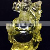 unique designer fengshui natural citrine crystal laughing buddha for decoration&gift