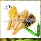 2016 hair comb bristle bamboo hair massage brush with wood handle hairdressing barber tool for home