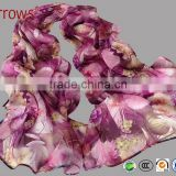Office Ladies Scarves and Shawls 2016 New Design Imitated Silk Chiffon 100 Polyster Scarf