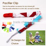 Europe Fashion Custom Newest Colorful Stripe Design Dummy Clip for Baby Girl