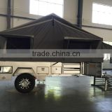 7x6ft Off-Road Hard Floor Forward Folding Enamel Baking Finish Camper Trailer With Tent