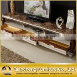 Inquiry about Classic wooden led tv stand furniture with showcase marble top