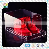 2015 transperant acrylic shoe box with lid simple design hot sale acrylic shoe display case acrylic nike shoe case
