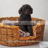 Oval Warm and comfort rattan basket dog bed
