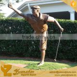 life size outdoor famous resin golf statue for garden decoration