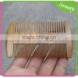 OEM Portable Wooden Comb Dense Tooth Grate Green Sandalwood Comb and Bread Shaping Comb