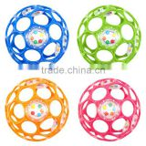 Hot Wholesale Cheap Plastic Baby Rattle Ball Noise Maker Topys 2016