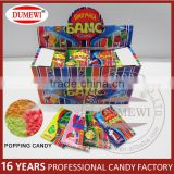 Kids foods shocking fruity flavored crackling candy