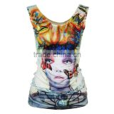 OEKOTEX-CERTIFICATE Factory Custom polyester mesh sublimation sleeveless shirt