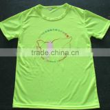 eye bird polyester dry fit t-shirt, custom breathable sports t-shirt wholesale