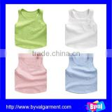 Good quality sleeveless t shirts for boy kids,heath soft tank top