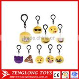 mini toy soft plush emoji backpack clip