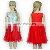 Chic sequins flower girl dress,Christmas festive baby girls party dresses M5041515