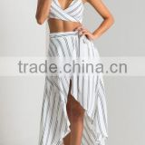 Hampton Wrap Over Maxi Skirt In Ivory