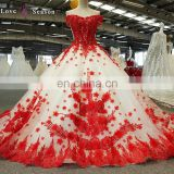 LS00379 off shoulder latest one piece dress patterns for party girls red puffy indian prom dresses