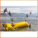 Factory price 0.9mm CE inflatable water catapult blob,big inflatable pillow,inflatable beach pillow for water sport