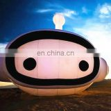 special design inflatable robot face with lighting replica