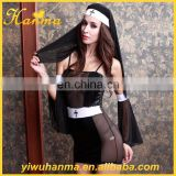 Wholesale 6 piece suit Halloween Party sexy cosplay women sexy nun costume