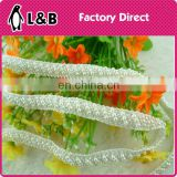 Beaded Trim for wedding dress ,Organza lace trim, Garment Trim Types for Garment