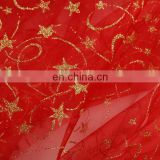150cm Width Red Christmas Decoration Fabric Organza