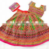 Designer Kutch Hand Embroidered Banjara Chaniya Choli -Belly dance costume Chaniyacholi - ram leela style chaniya choli