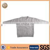 Wholesale knitted cable autumn child cashmere sweater