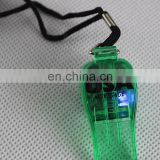 Party Supplies High Quality Flashing LED Glow Whistle With Necklace OEM/ODM Approved
