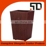 New Latest Design Wholesale Price Leather Antique Waste Bin