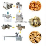 Factory Directly Supply Lowest Price Puffed rice candy cake production line/ popcorn ball forming machine