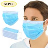 50X Disposable Face Masks Comfortable Earloop