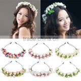 Wholesale Alibaba Wedding Decorate Flower Headband,Floral Bridal Wreath