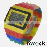 High Quality Sport Digital Silicone Watch with Quartz Movement and Made of Plastic Case Reach 3ATM Water Resistance