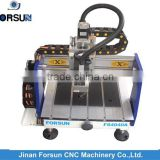Desktop cnc router with free cnc router training for wood plastic aluminum, mini cnc router for sale 400*400mm