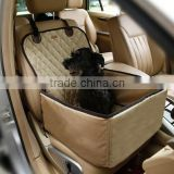 Luxury pet car carrier bag dog auto travel car booster seat for pet