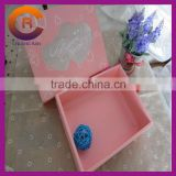 Custom made window paper cheap wedding cake boxes