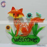 metal wall hanging decoration fox figurines for sale