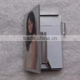 Whosale Diy custom Loose-leaf notebook with pen front covered sublimation print aluminum sheet