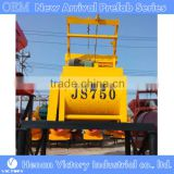 JS750 concrete mixer for the production of Precast lightweight wall panel and hollow core slab