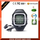 2016 Hot GPS Smart Watch Golf Navigation Watch with 30,000 World Courses, Black/Red