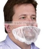 "Adult food safety industry Disposable Non-woven PP beard cover 16"" white"