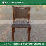 Rattan Armless Chair Bamboo Style Outdoor Patio Garden Used