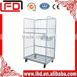 galvanized steel wire mesh roll cage Suitable for double stacking