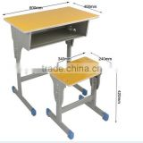 Wholesale school furniture desk and chair/Student desk and chair/Double classroom furniture MK