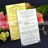 Personalised Mirror Acrylic Wedding Invitations, Birthday Gift With Envelop                                                                         Quality Choice